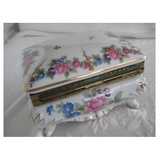 Beautiful Rose Pattern Vintage Jewel Box