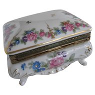 Beautiful Rose Pattern Vintage Jewel Box