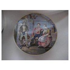 REDUCED: Antique Pratt Porcelain Container - Pristine Condition