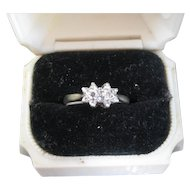 Vintage 2-Diamond 9ct Engagement Ring, Size 5