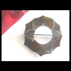 Fabulous Large Scottish Victorian Agate Brooch