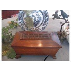 "Wonderful Art Deco Mahogany Box ""E G E B"""