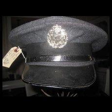 Vintage RAF (Royal Air Force) Cap with Newer Badge