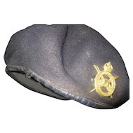 British Army Corp of Military Staff Clerks Beret w/Badge