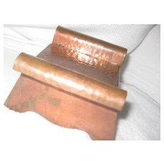 Hammered Copper Art Deco Box in shape of bench