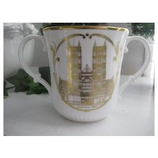 China Royal Doulton 1953 Coronation 25th Anniversary Loving Cup