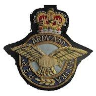 Vintage Royal Air Force (RAF) Bullion Badge