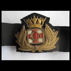 Vintage British Royal Naval Hat Band