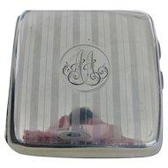 "English 1903 Chester Hallmarked Silver Cigarette Case ""A.A."" Initials"