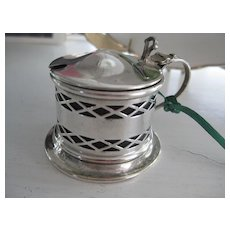 Vintage English Silver Plate Mustard Pot w/Original Liner