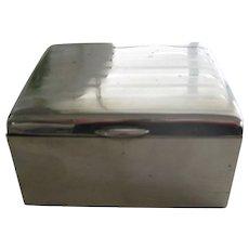 Vintage Nickel Silver Cigarette Box
