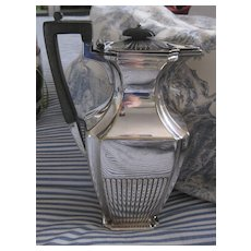 Early Elegant Maple & Co Silver Plate Coffee Pot