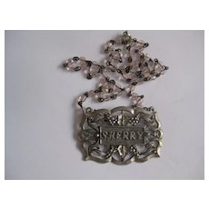 "Vintage Necklace from ""SHERRY"" Decanter Collar."