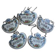 5PC SET English China Decanter Collars