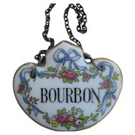 English China Vintage Decanter Collar BOURBON