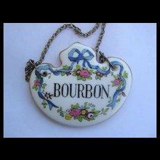 English China Vintage Decanter Collar BOURBON