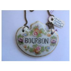 Single Vintage Decanter Label BOURBON - made in Japan