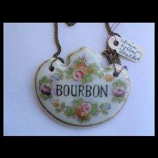Single Vintage Decanter Label BOURBON - made in Japan