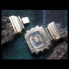 """Victorian Mourning Hair Bracelet...AS IS. """"A.B.P.""""Initials"""
