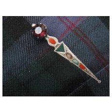 Beautiful Engraved Vintage Silver Scottish Kilt Pin