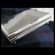 Sciarrotta AS IS Beautiful Handmade S Plate Cigarette Box by Black, Starr and Gorham
