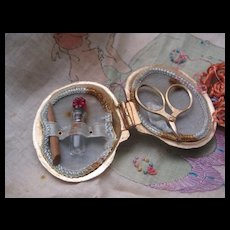 Adorable Little Vintage Sewing Set