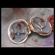 Adorable Little Vintage Sewing Set