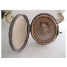 C1800s Miniature Traveling Photo Frame