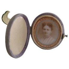 Civil War Period 1800s Miniature Traveling Photo Frame