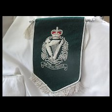 Royal Irish Regimental Presentation Pennant w/Silver Thread