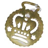 Original Brass Horse Brass With Crown
