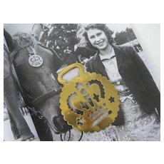Victorian Horse Brass with Crown - Original 3 ins