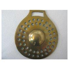 Victorian Horse Brass with Raised Center  Original. 3 1/2 ins