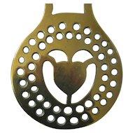 Victorian Horse Brass - Heart Center - Original