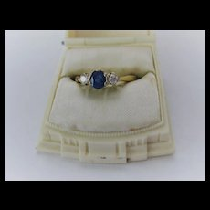 Vintage 18ct Gold/Sapphire Ring  Size 7  AS IS