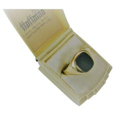 Man's Vintage Bloodstone/9ct Ring  Size 10.5