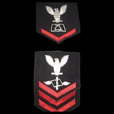 Pair of US Naval patches