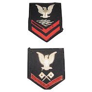 Pair of US Naval Patches - older