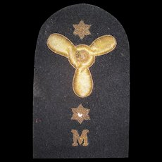 Militaria Patch with Gold Thread
