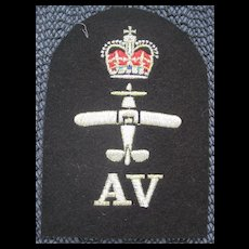 British Military Patch with silver thread