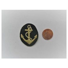 British Royal Navy Patch with silver Thread