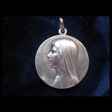 Beautiful French Vintage Lourdes Medallion