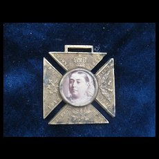 Queen Victoria Brass Badge