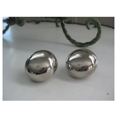 Large Vintage Clip-On Earrings