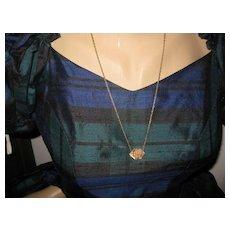 "Victorian Gold Filled Slider/Chain-""L.O."""