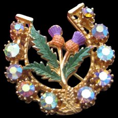 Sweet Vintage Scottish Brooch with Thistle