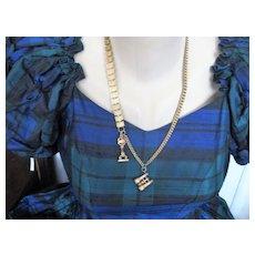 Victorian Gold Fill Bookchain Necklace