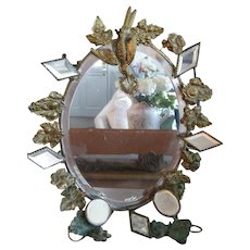 Early Victorian Mirror w/Bird and Added Detail