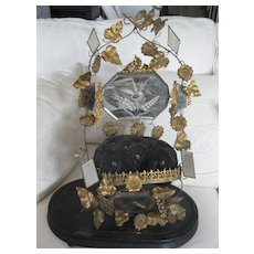 Fabulous Early Victorian Wedding Stand w/Bird and Detail