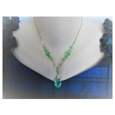 Early 1900s English Crystals w/Gold Filled Chain